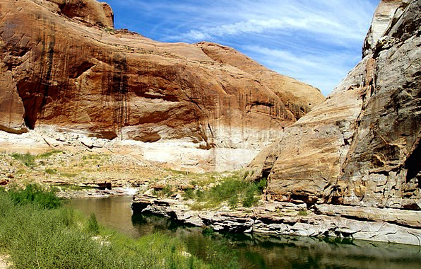 Canyon Gorge Landscapes Nature Sand Stone Lake Pow