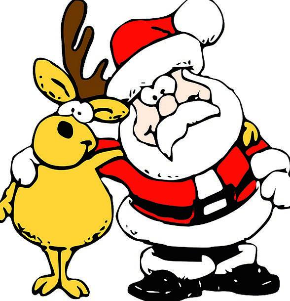 Santa Shristmas Reindeer Merry Christmas Deliver B