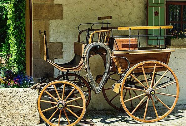 Horse Drawn Carriage Timber Nostalgia Homesickness