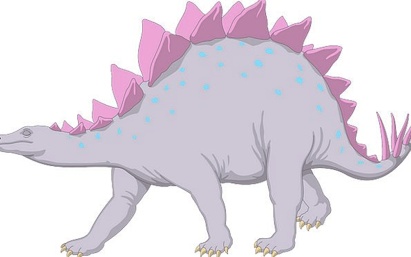 Purple Elaborate Relic Stegosaurus Dinosaur Walkin