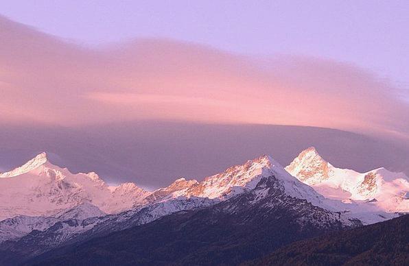 Switzerland Landscapes Nature Mountains Crags Alps