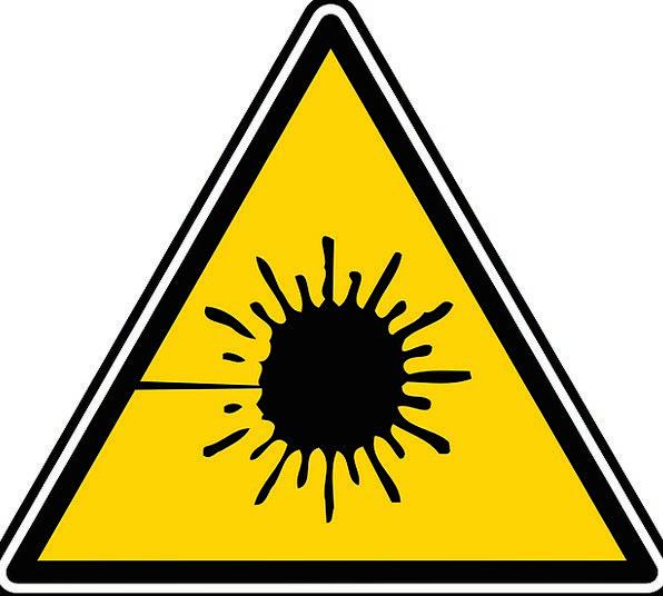 Laser Care Sign Safety Light Symbol Risk Warning D