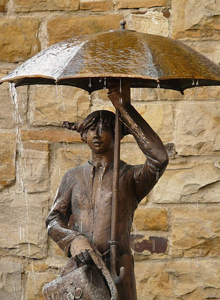 Statue Figurine Fashion Beauty Umbrella Canopy Bro