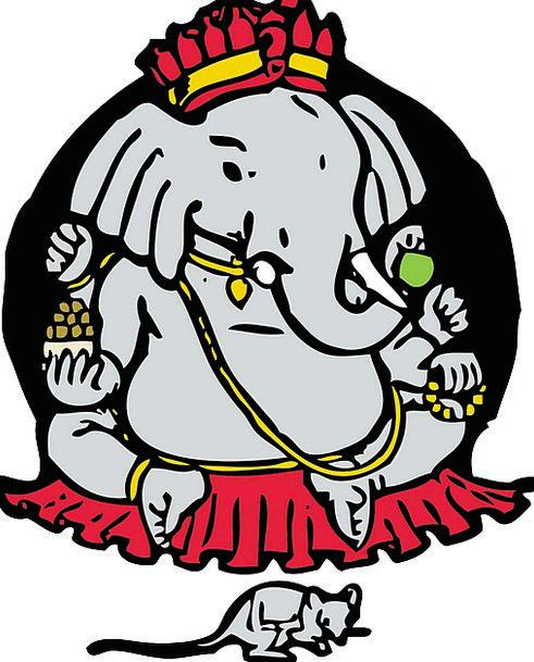 Ganesha Mouse Elephant God Culture Hinduism India