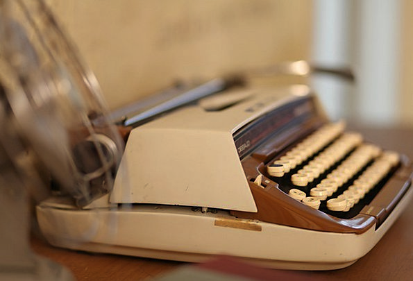 Typewriter Author Vintage Out-of-date Writer Old A