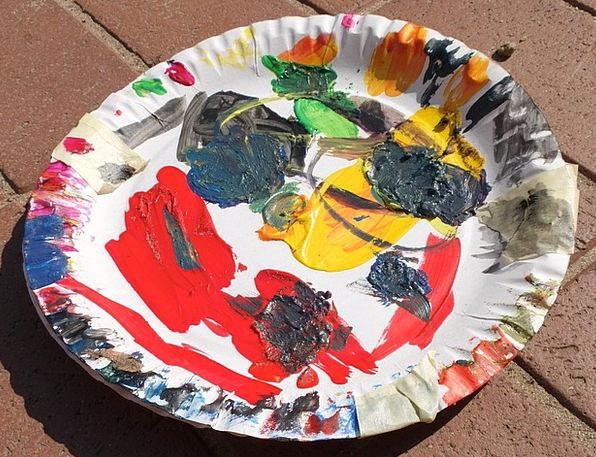 Color Palette Color Hue Paper Plate Mix Combinatio