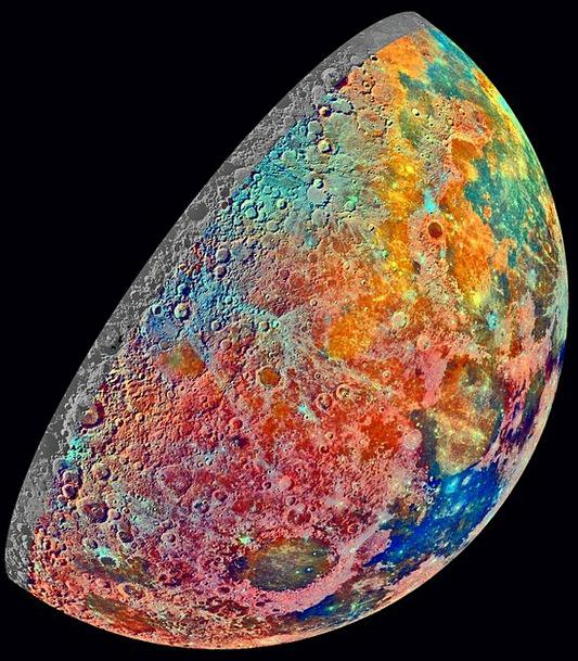 Moon Romanticize Progressively False Color Increas