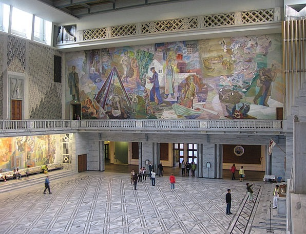 Oslo Entrance Hall Lobby Town Hall Painting Image