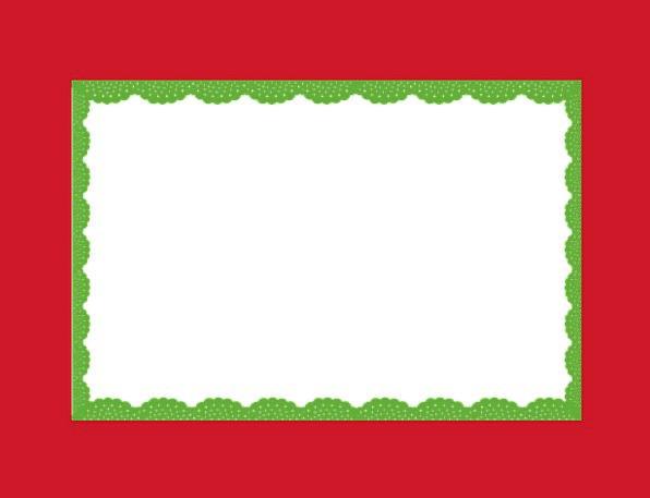 Frame Edge Bloodshot Green Lime Red