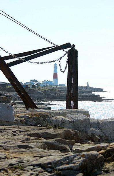 Portland Bill Hoist Coastal Seaside Crane England
