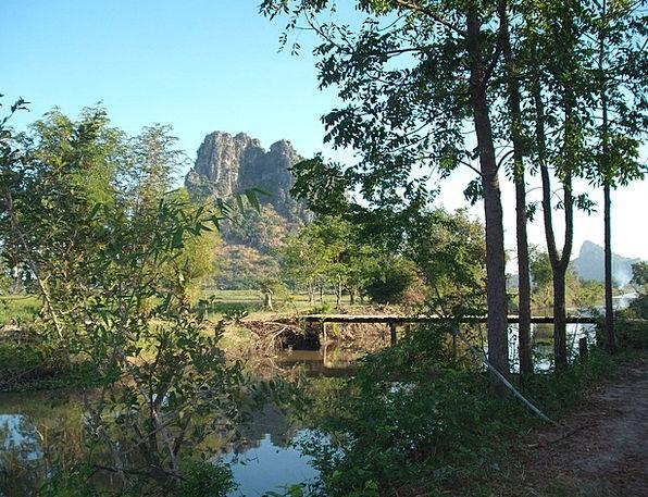 Thailand Landscapes Nature Mountain Water Asia Lan