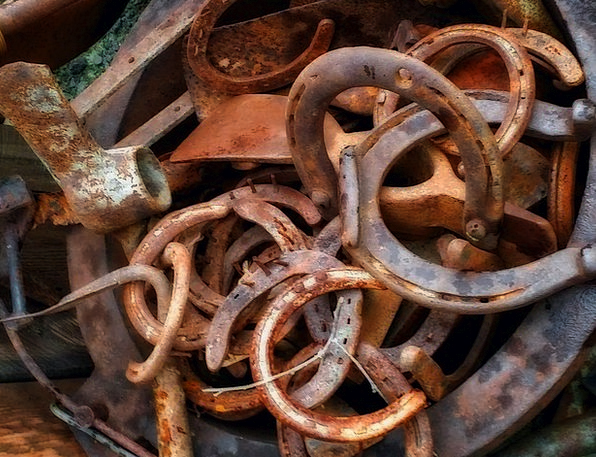 Horse Shoe Ancient Rusty Corroded Old Vintage Luck