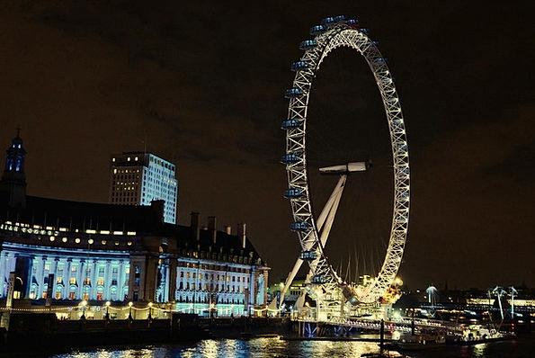 London Wheel Helm London Eye Night Nightly Blue Th