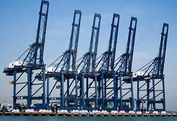 Felixstowe Port Harbor Container Port Cranes Hoist