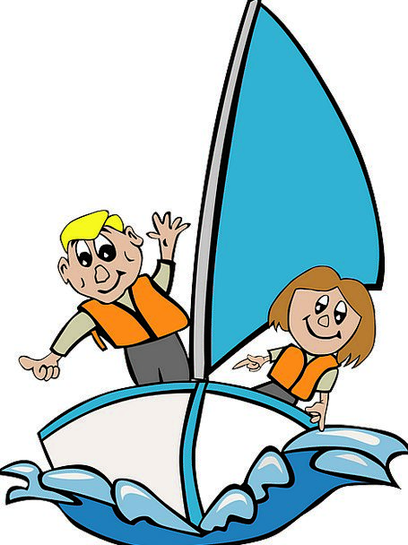 Sailboat Dinghy Broods Playing Live Children Child