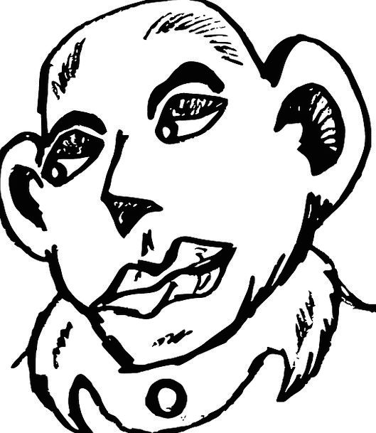 Man Gentleman Bare Head Skull Bald Loss Portrait R