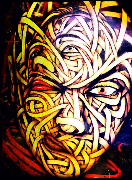 Street Art Partition Graffiti Drawings Wall Abstra
