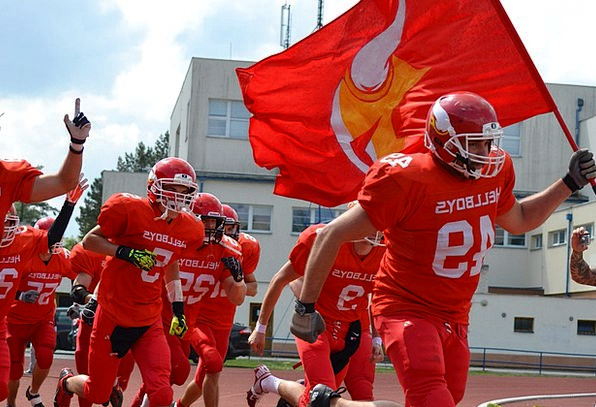 American Football Side Hellboys Team Czech Budejov
