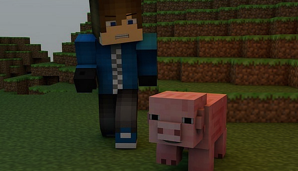 Minecraft Pig Glutton Video Game Graphic Pixels Bl