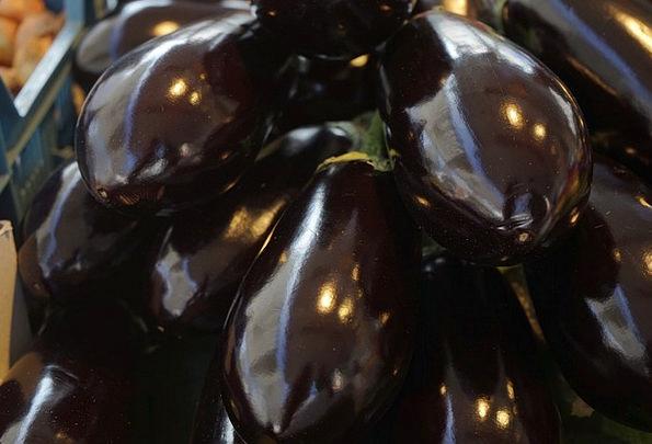 Eggplant Potatoes Solanum Melongena Vegetables Mel