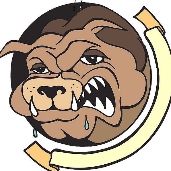 Growling dog clipart
