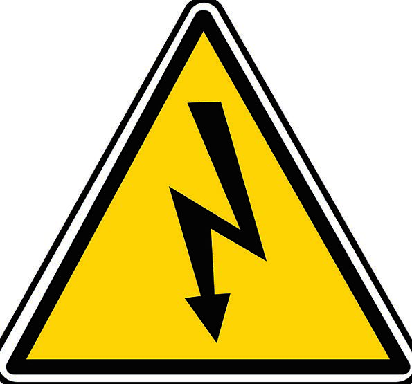 High Tall Power Sign Voltage Safety Symbol Above H
