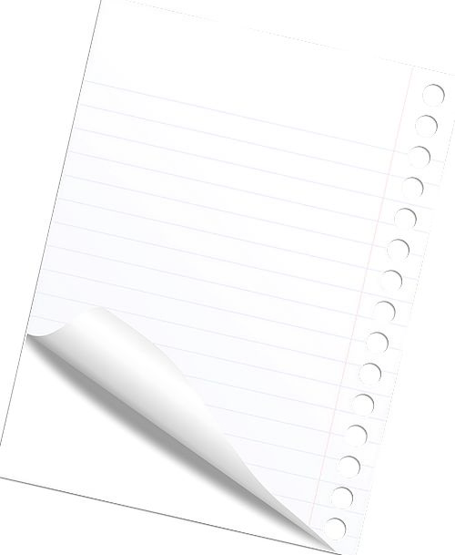 Note Letter Finance Sheet Business Blank Outright