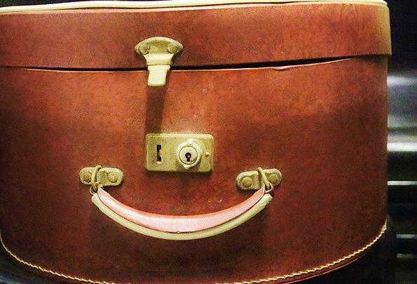Hatbox Container Handle Grip Box Luggage Baggage C