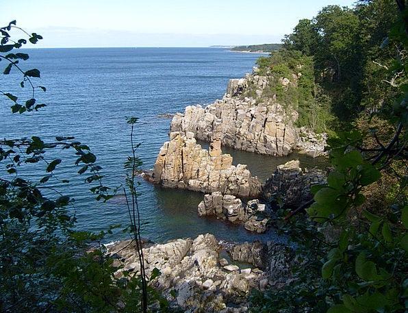 Baltic Sea Pillar Denmark Rock