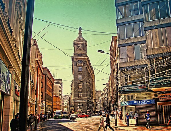 Chile Buildings Architecture City Urban Valparaiso