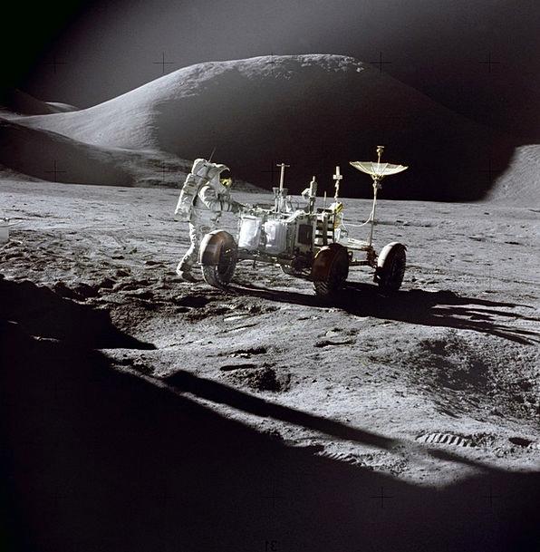 Moon Romanticize Moon Buggy Moon Rover Astronaut C