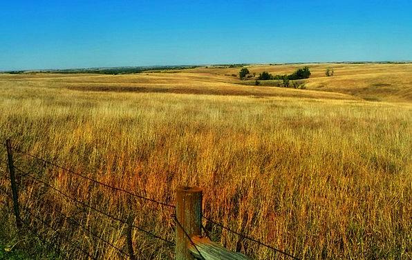 Nebraska Landscapes Steppe Nature Plains Grassland