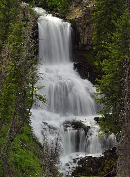 Undine Landscapes Cascade Nature Yellowstone Natio
