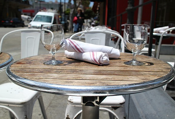 Restaurant Eatery Bench Café Teashop Table Napkins