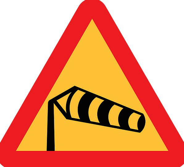 Roadsigns Sign Windsock Warning Sign Windshear Gus