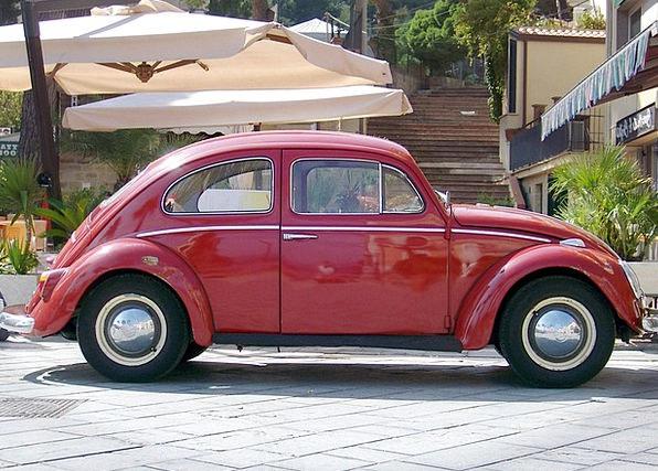 Vw Auto Car Vw Beetle Red Bloodshot Summer Classic