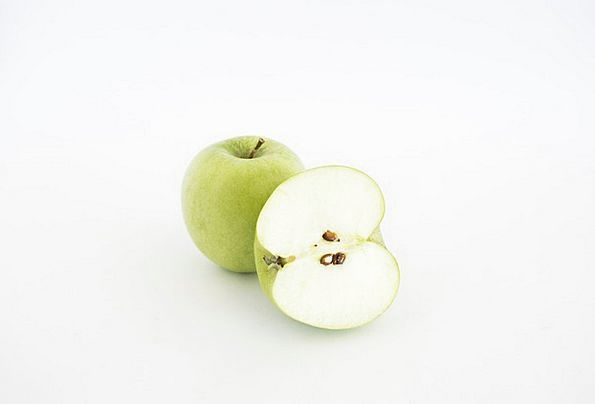Apples Drink Shared Food Isolated Remote Sliced Or