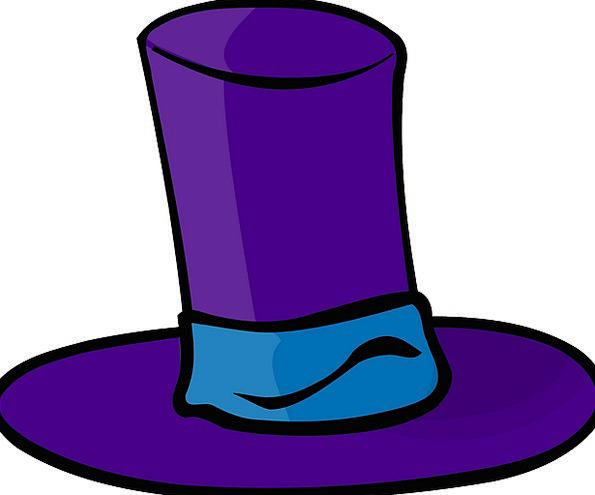 Hat Cap Elaborate Crazy Foolish Purple Gorgeous Cl
