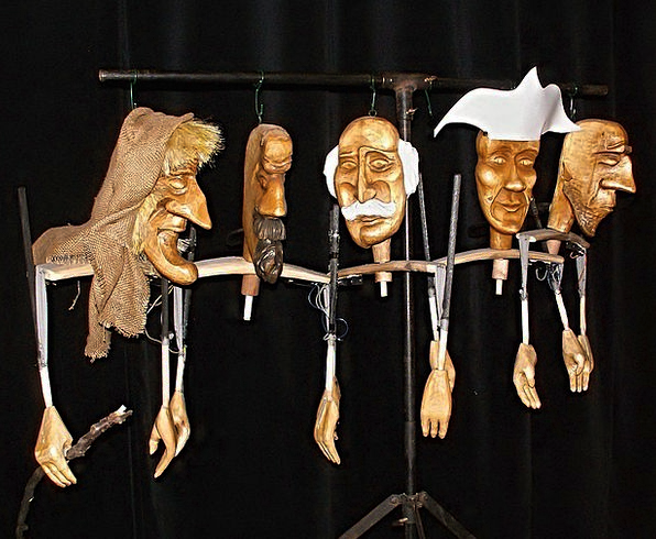 Puppets Marionettes Playhouse Stand Attitude Theat