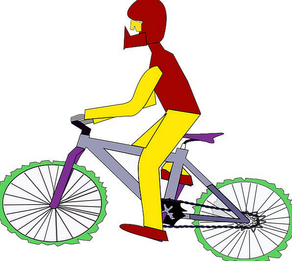 Riding Bicycle Traffic Transport Transportation Sp