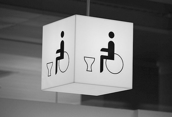 Wc Toilet Lavatory Wheelchair Users Note Disabled