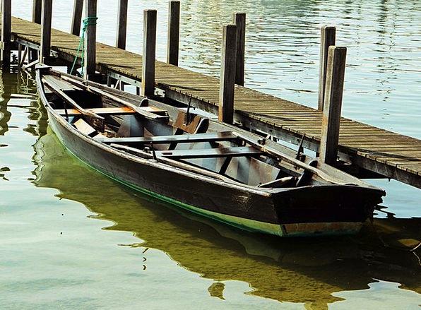 Rowing Boat Walkway Jetty Breakwater Boardwalk Boo
