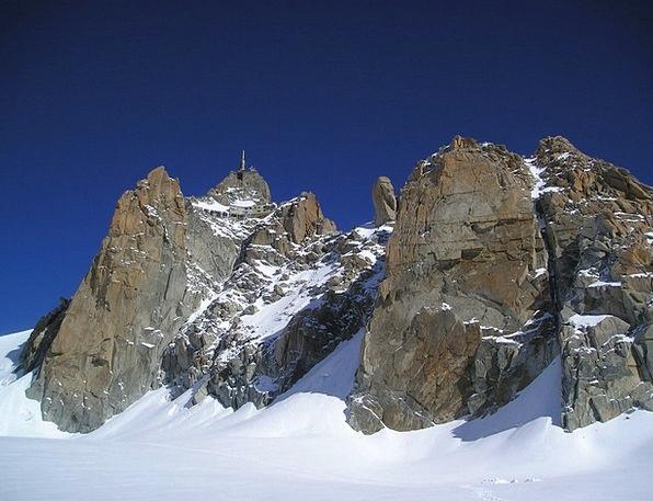 Chamonix South Side Aiguille Du Midi Mountains Cra