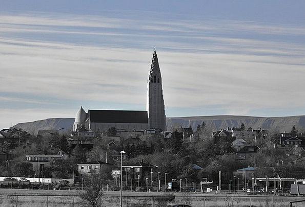Church Ecclesiastical Blue Azure Iceland Tourism B