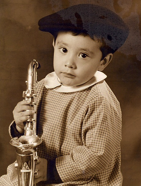 Saxophone Youngster Classical Music Child Hat Sepi