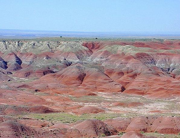 Arizona Landscapes Nature Usa Petrified Forest Nat