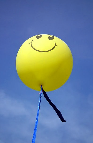 Balloon Inflatable Blue Smile Beam Sky Wind Yellow