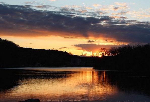 Sunsets Dusks Italy Ticino Evening Twilight Lake F