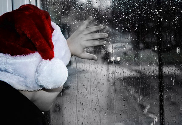 Rainy Raining Grief Sorrow Christmas Season Child