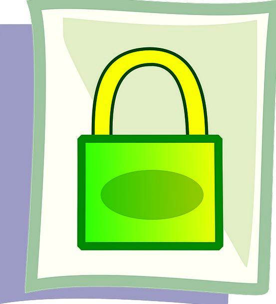 Padlock Green Lime Lock Secure Yellow Creamy Safeg